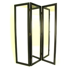 "72"" H x 60"" W Mirror 3 Panel Room Divider"