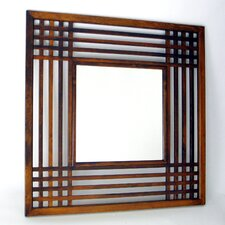 <strong>Wayborn</strong> Plantation Mirror in Distressed Brown