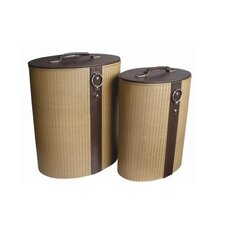 Oblong Basket in Light Brown (Set of 2)