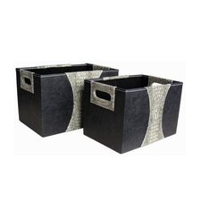 Storage Box in Gray (Set of 2)