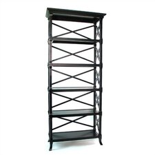 "Baron 74"" H Five Shelf Book Stand in Black"