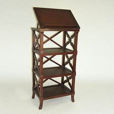 "Baron 40"" H Three Shelf Podium Book Stand"