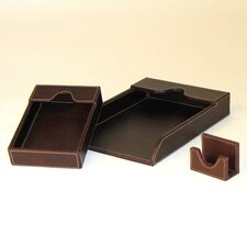 Cigar Room Leather Covered Grand Tray