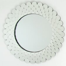 Round Beveled Wall Mirror