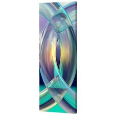 Tall Aqua Rings Limited Edition by Scott J. Menaul Framed Graphic Art