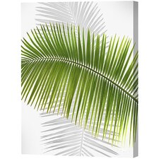 Green Palm Frond Limited Edition Canvas - Scott J. Menaul