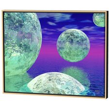 Green Spheres Limited Edition Framed Canvas - Scott J. Menaul
