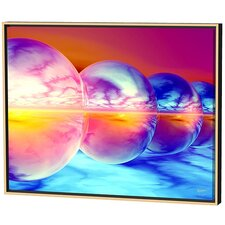 Sunset Spheres Limited Edition Framed Canvas - Scott J. Menaul