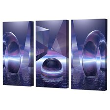 <strong>Menaul Fine Art</strong> Moonlight Triptych Limited Edition Canvas - Scott J. Menaul (Set of 3)