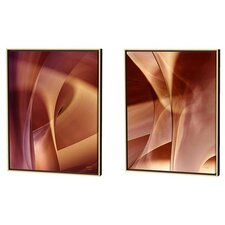 Shrouds and Subterranean Refuge Limited Edition by Scott J. Menaul 2 Piece Framed Graphic Art Set (Set of 2)