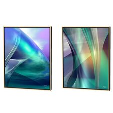 Aqua Crossover and Guise Limited Edition by Scott J. Menaul 2 Piece Framed Graphic Art Set (Set of 2)