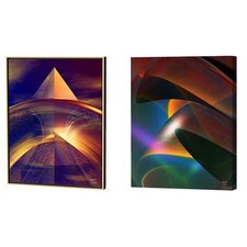Rich Reflections and Robusta Limited Edition by Scott J. Menaul 2 Piece Framed Graphic Art Set (Set of 2)