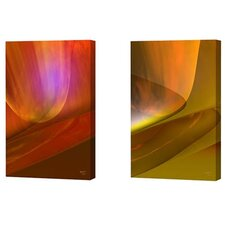 Modern Fire and Modern Mustard Limited Edition by Scott J. Menaul 2 Piece Framed Graphic Art Set (Set of 2)
