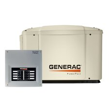 PowerPact 7 kW Air Cooled Automatic Home Standby Generator 50 Amp 8 Circuit Transfer Switch without Whip
