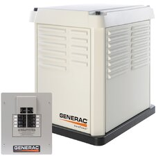 <strong>Generac</strong> 7 Kw Air-Cooled 50 Amp Standby Generator with Switch