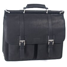Mind Your Own Business Leather Laptop Briefcase