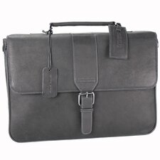 "Colombian Leather ""'Till Death Do Us Port"" Laptop Briefcase"