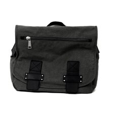 """Don't Mess Out On... "" 4"" Single Gusset Flapover Messenger Bag in Gray"