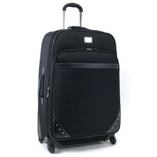 """Curve Your Enthusiasm"" 29"" Expandable 4-Wheeled Suitcase in Black"