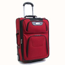 """Lite As A Feather"" 21"" Wheeled Carry-On in Red"