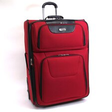 """Lites, Camera, Action!"" 29"" Wheeled Suitcase in Red"