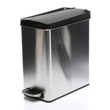 10 L / 2.6 Gal, Profile Step Trash Can, Plastic Lid
