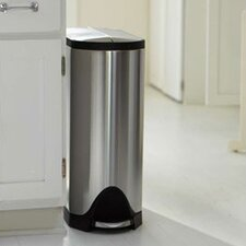 Butterfly Step Trash Can, Stainless Steel