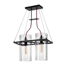 Square Ring 2 Light Kitchen Island Pendant