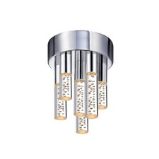 <strong>Sonneman</strong> Champagne Staccato 6 Light Flush Mount