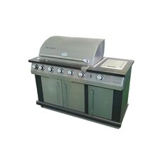 Island Gas Grill with Cover