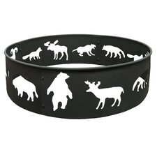Big Sky Steel Wildlife Fire Ring