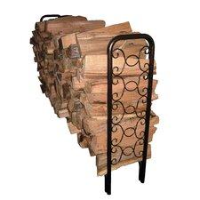 8' Ornamental Scroll Log Rack