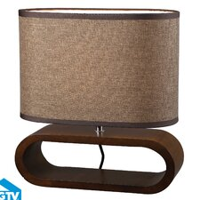 """Modern Heritage 12"""" H Table Lamp with Oval Shade"""