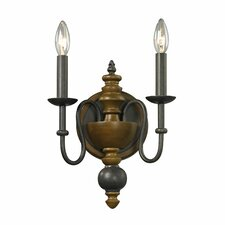 French Country 2 Light Wall Sconce