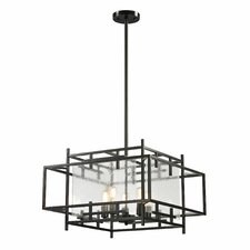 Intersections 5 Light Foyer Pendant