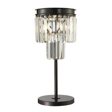 "Palacial 22"" H Table Lamp with Drum Shade"