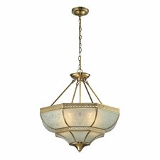 <strong>Elk Lighting</strong> French Damask 4 Light Bowl Pendant