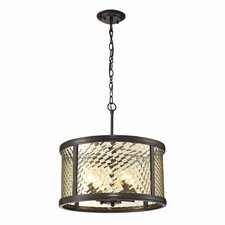 <strong>Elk Lighting</strong> Chandler 4 Light Drum Pendant