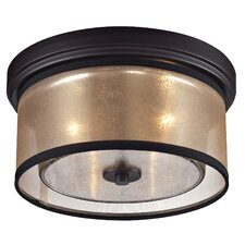 Diffusion 2 Light Flush Mount