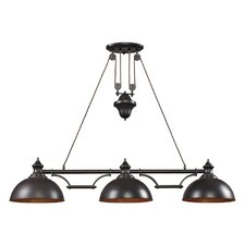 "56"" Farmhouse Linear Incandescent Pendant"