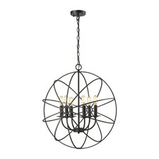 Yardley 6 Light Candle Chandelier