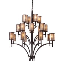 Barringer 20 Light Chandelier and Shade