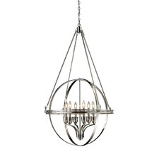 Hemispheres 6 Light Chandelier