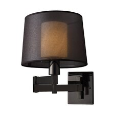 Black Chrome Swing Arm Wall Sconce
