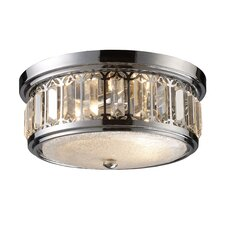 2 Light Flush Mount