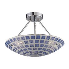 3 Light Semi Flush