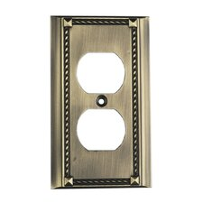 Clickplates Single Socket Plate in Antique Brass