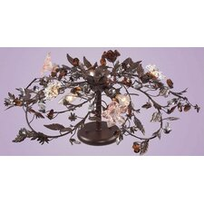Cristallo 3 Light Fiore Semi Flush Mount