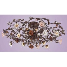 Cristallo 6 Light Fiore Semi Flush Mount