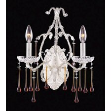 Opulence 2 Light Candle Wall Sconce